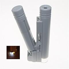 led portátil iluminado 80x microscópio binocular (2 x AA)