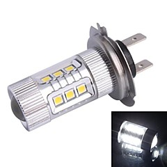 H7 80W 12xLED SMD 680LM 6500K White Light LED Car Sumuvalojen Ajovalojen (DC12-24V)
