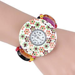 Round Wooden Printing Color Bracelet Watch (1Pc) Cool Watches Unique Watches