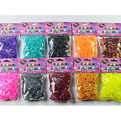 Loom Bands DIY Luminous Braided Set (Rubber Band 600 PCS,S Buckle,Crochet)(Random Color)