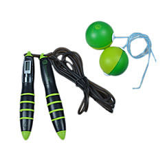Double Chromosphere Massage Skip Counting Calories Children Lose Weight Wireless Jumping Rope(Assorted Color)