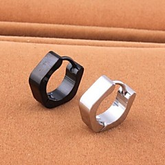 European  (Geometric)  Titanium Steel Stud Earrings(Black,Silver,Gold) (1 Pc) Christmas Gifts