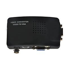 bnc compuesto + hembra vga + s-video a VGA hembra convertidor de pantalla ancha