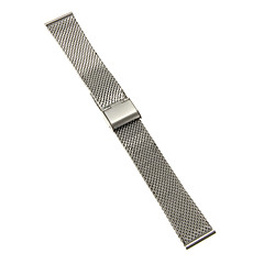 20mm High Quality Elegant Silver Stainless Steel Watchband