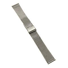 Elegante plata de 20 mm de alta calidad correa de acero inoxidable