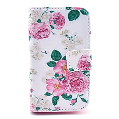 Rose Flower Pattern PU Leather Cover Case with Stand for Samsung Galaxy Ace 3 S7272/S7275