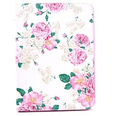 Rose Flower Pattern Full Body Leather Case Cover with Stand  for Samsung Tab 4 10.1 T530