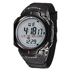 SYNOKE Men's Watch Sports Digital Waterproof Wristwatch with Alarm Clock Stopwatch LED Cool Watch Unique Watch