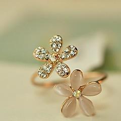 Båndringe Imitation Diamond Legering Blomstformet Daisy Justérbar Gylden Smykker Daglig