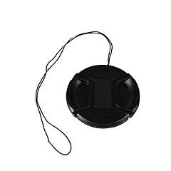 bevik capuchon d'objectif de 52mm pour Panasonic GF6 gf3 GF5 45-150 45-200mm avec sangle porte-laisse