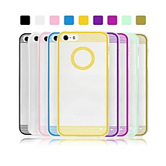 Angibabe 0.3mm Circle Acrylic Transparent TPU Phone Back Cover for iPhone 5/5S (Assorted Colors)