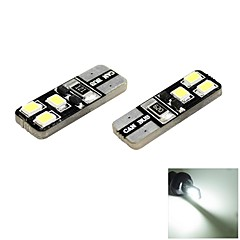 T10 1W 6x2835 SMD LED 70lm 6000K Cool White Light Dome Side Marker Bulb for Car (DC 12V , 2-Pack)