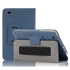 7 '' patrón de litchi caso de cuerpo completo con cuero de la PU para la cubierta de la PC de la tableta del lenovo s5000
