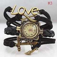 Mujer Reloj de Moda Reloj Pulsera Cuarzo La imitación de diamante PU Banda Heart Shape Bohemio Negro Rosa Rose Marca