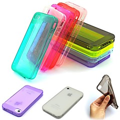 Candy Color Ultra-thin Dirt-resistant Transparent TPU Soft Case Cover for iPhone 4/4S (Assorted Color)
