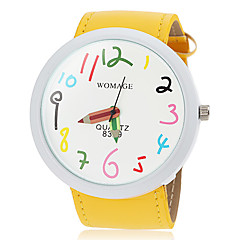 Women's Cute Big Dial Pencil Pointer Design PU Band Quartz Wrist Watch (Assorted Colors) Cool Watches Unique Watches