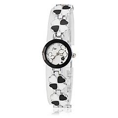 reloj de pulsera de cuarzo de la venda de la aleación del estilo del trébol de las mujeres