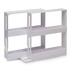 "N More Cabinet Organizer Sliding Space Saver Spice 2 Racks ,Plastic 8""X8""X4"""