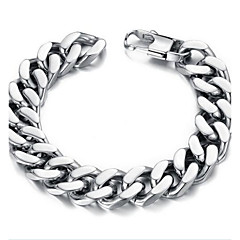 Z&X®  Men's Fashion Contracted Titanium Steel Thick Chain Bracelet Jewelry Christmas Gifts