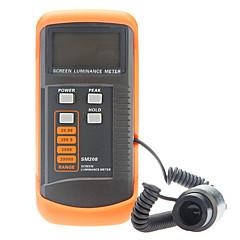 sm208 kannettava näyttö luminanssimittarilla näytön kirkkautta valon mittari (0.01-39990cd / m2)
