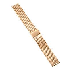 18mm hoge kwaliteit elegante rose goud roestvrij staal horlogeband