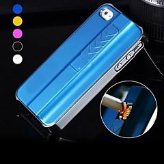 Enkay usb portable charge briquet électronique ou iphone cas 5 / 5s arrière avec protecteur d'écran