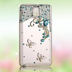 diamond butterfly powrotem skrzynki pokrywa dla Samsung Galaxy S5 i9600