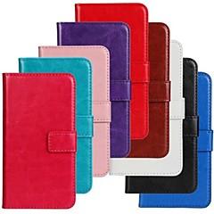 Mert Motorola tok Kártyatartó / Pénztárca / Állvánnyal / Flip Case Teljes védelem Case Egyszínű Kemény Műbőr Motorola