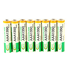 BTY 1.2V 1350mAh Rechargeable Ni-MH AAA Batterie 8 pcs