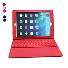 pu kožené pouzdro s Bluetooth 3.0 klávesnice pro iPad vzduch (různé barvy)