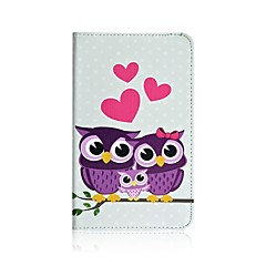 Pink Love Pattern PU Leather Full Body Case with Stand for Samsung Galaxy Tab 3 Lite T110