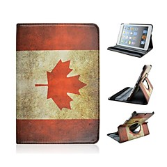 caso retro rotación patrón canadá 360 grados para el ipad Mini 3, Mini iPad 2, iPad mini