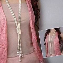 Women's Strands Necklaces Pearl Necklace Pearl Imitation Pearl Fashion Golden Jewelry Wedding Party Daily Casual 1pc