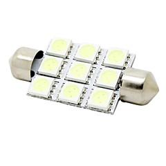 41 millimetri 2w 9x5050 smd 180lm cristallo luci blu della cupola del festone lettura mappa lampada luce targa per auto (12V DC)
