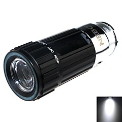 Zhishunjia Rechargeable 1-Mode 1x LED Mini Car Charger LED Flashlight (60lm , 4xCR2032 , Black)