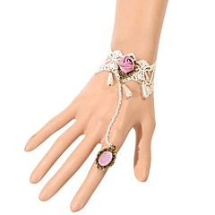 European Style Retro Lace Bracelet with Ring