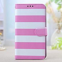 Voor Samsung Galaxy Note Kaarthouder / met standaard / Flip / Patroon hoesje Volledige behuizing hoesje Lijnen / golven PU-leer Samsung