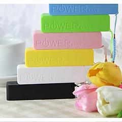 universella bärbara strömbank externt batteri för iPhone 6/6 plus / 5 / 5s / samsung S4 / S5 / note2 (2600 mAh)