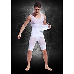 top szokás erős könnyű légáteresztő mesh öv Férfi has zsírégető alakformáló ruhák fehér