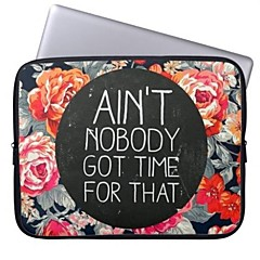 """Elonbo Ain't Nobody Got Time for That 15"""" Laptop Neoprene Protective Sleeve Case for Macbook Pro Retina Dell HP Acer"""