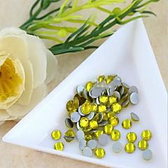 4.6 * 4.8mm boutique (gul) flad ryg rhinestones (telefon skønhed tilbehør) søm Bedazzle 100 stykker af perler i pose