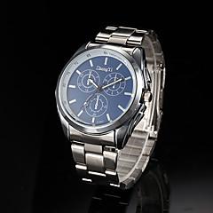 mannen zakelijke stijl zilver legering quartz horloge (verschillende kleuren)