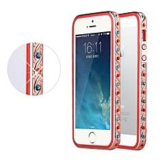Shengo ™ cristal de luxe strass avec la protection de l'insert TPU rose pare-chocs en métal doré pour iphone 5/5 ans (couleurs assorties)