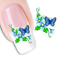 1 Neglekunst Klistermærke Vandoverførende decals 3D Negle Stickere Blomst Bryllup Makeup Kosmetik Neglekunst Design