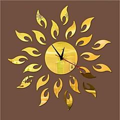 3DのDIYのモダンなスタイルの新しいアクリルファッション日ミラー壁時計