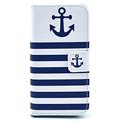 Mert iPhone 5 tok Pénztárca / Kártyatartó / Állvánnyal / Flip / Minta Case Teljes védelem Case Horgony Kemény MűbőriPhone 7 Plus / iPhone