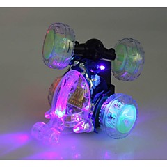 Newest Wireless RC Car 360 Degree Rotation Dance Stunt Car with Flashing Light and Music Random Color inc.Battery