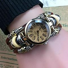 Kvinders høj kvalitet personlig numre læder urværk armbånd ure