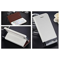 AllSpark® 100% Nature Cowhide Genuine Leather wallet case for iphone 4/4s with Stand Card Slot (Assorted Colors)