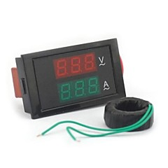 digital dobbelt display ac voltmeter amperemeter (100 ~ 300V / 0 ~ 100 A)